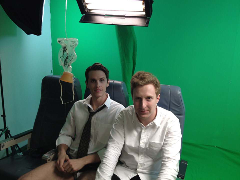 Brian Hanford and Alexey Marfin on the set of Into the Stream