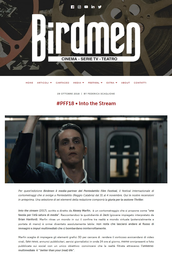 Birdmen Magazine review of Alexey Marfin's Into the Stream