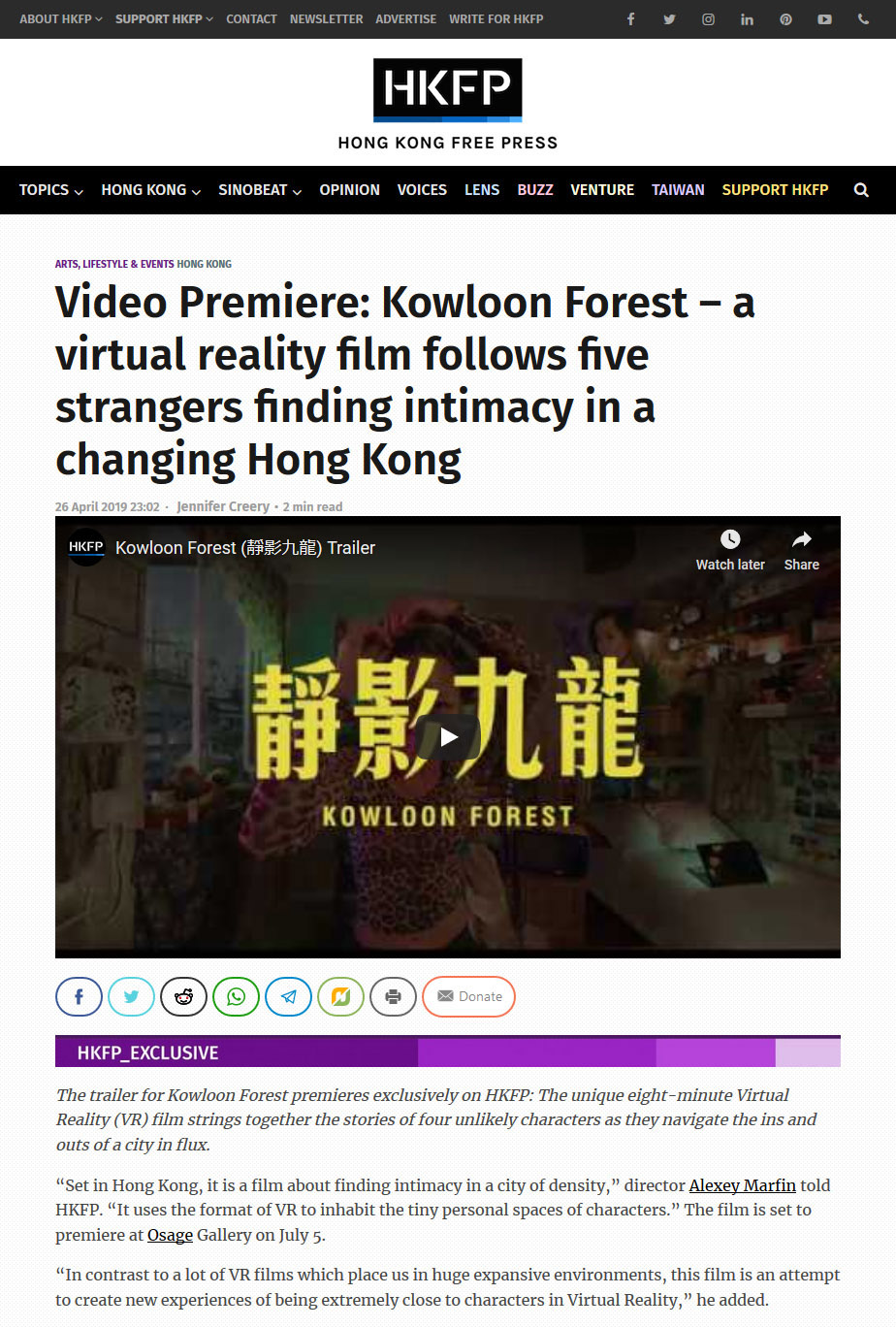 Alexey Marfin Interview - Hong Kong Free Press - Kowloon Forest
