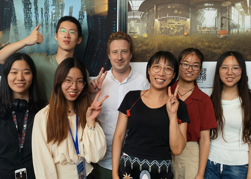 Alexey Marfin and his Tsinghua University students